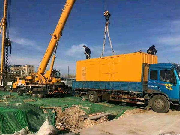 泰州万科工程建设租赁一台大型静音发电